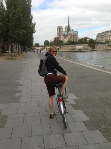 "Me and my ""vela"" across from Notre Dame"