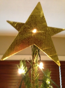 Made with foil and cardboard, our most cherished and beautiful tree topper