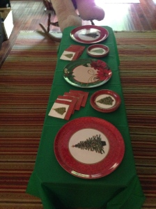 I even decorated the coffee table to serve appetizers. I knew the small plates and cocktail napkins would be curious to the guys but they would enjoy the extra food.