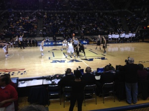 Tip off at the Navy Men's Basketball Game
