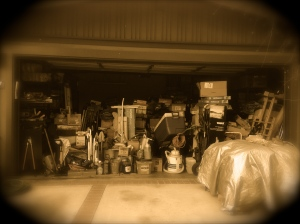 Our garage, which is the most egregious, but emblematic of other messes in my life