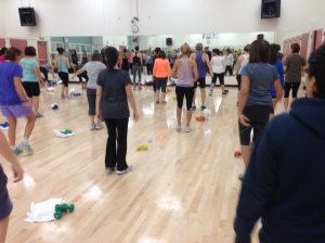 For the livelier exercise classes, the room is brimming with mostly female energy