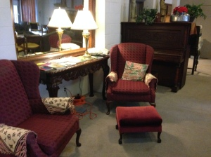 The armchair in the Lounge that became my home for most of the Retreat