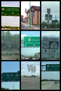 Route 50 signs