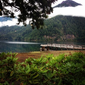 This was the view from our breakfast table at the Lake Crescent Lodge in Washington