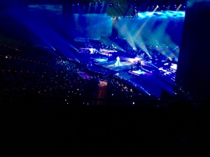 Celine Dion, from our nosebleed seats in the Coliseum at Caesar's Palace. It was still fantastic!