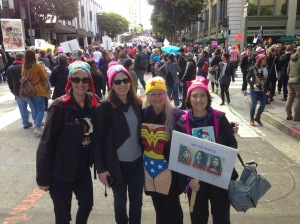 Wonder Women Marchers, along with our 750,000 new friends