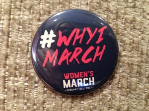 My official Women's March button